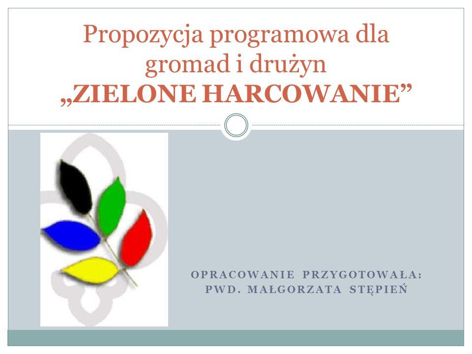 """Propozycja programowa dla gromad i drużyn """"ZIELONE HARCOWANIE"""