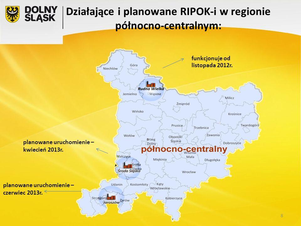 Działające i planowane RIPOK-i w regionie północno-centralnym: