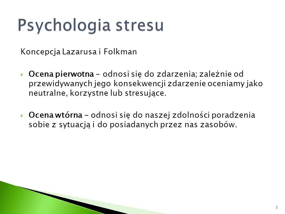 Psychologia stresu Koncepcja Lazarusa i Folkman