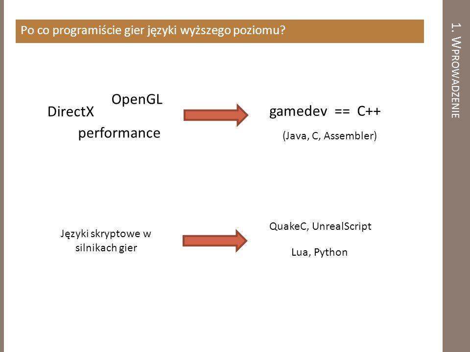 Języki skryptowe w silnikach gier