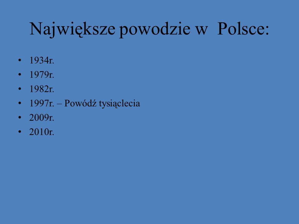 Największe powodzie w Polsce: