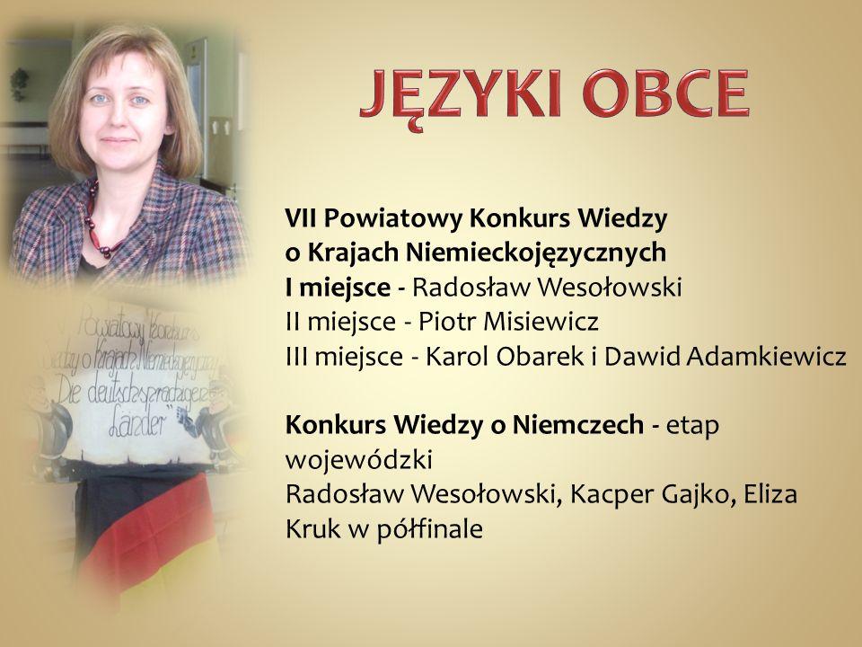 JĘZYKI OBCE VII Powiatowy Konkurs Wiedzy o Krajach Niemieckojęzycznych