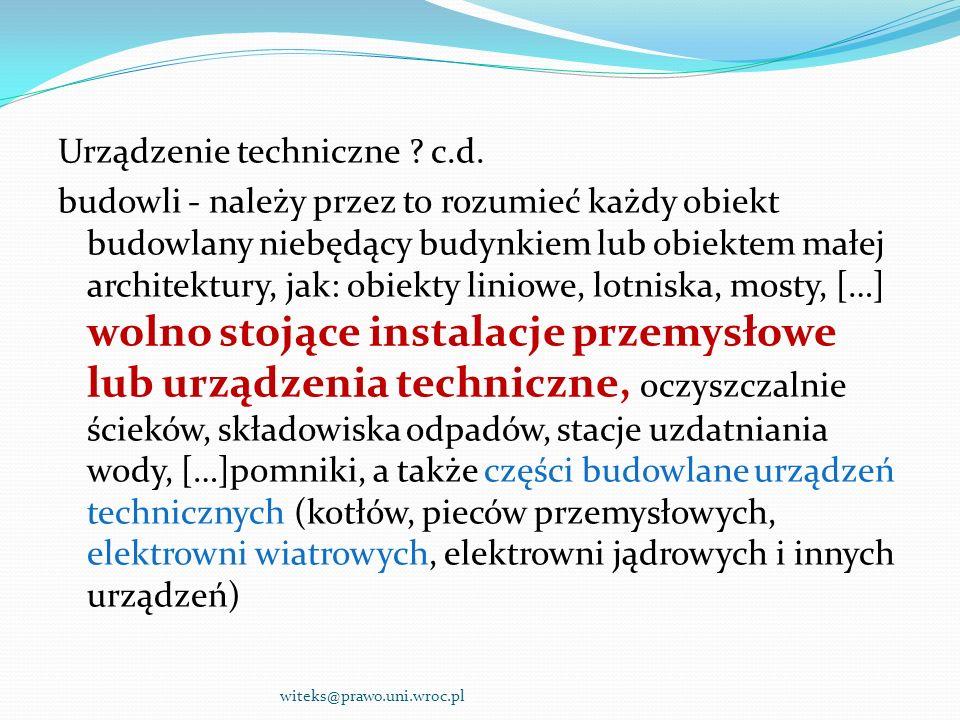 Urządzenie techniczne. c. d