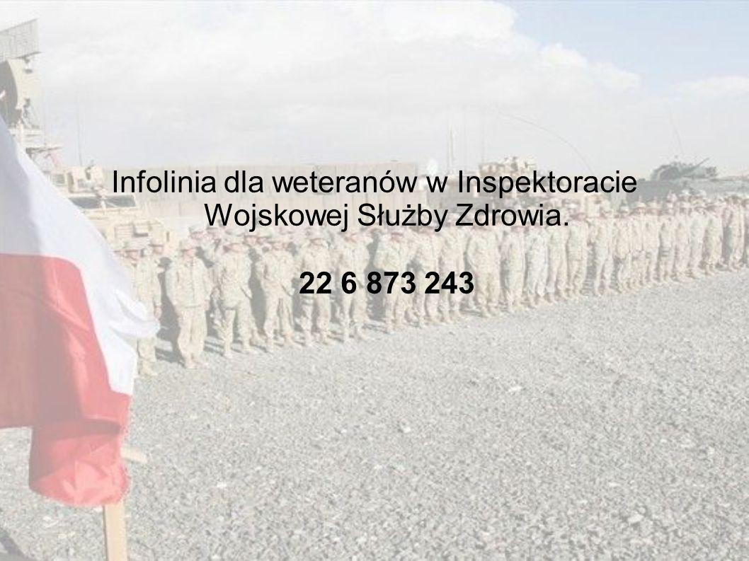 Infolinia dla weteranów w Inspektoracie Wojskowej Służby Zdrowia