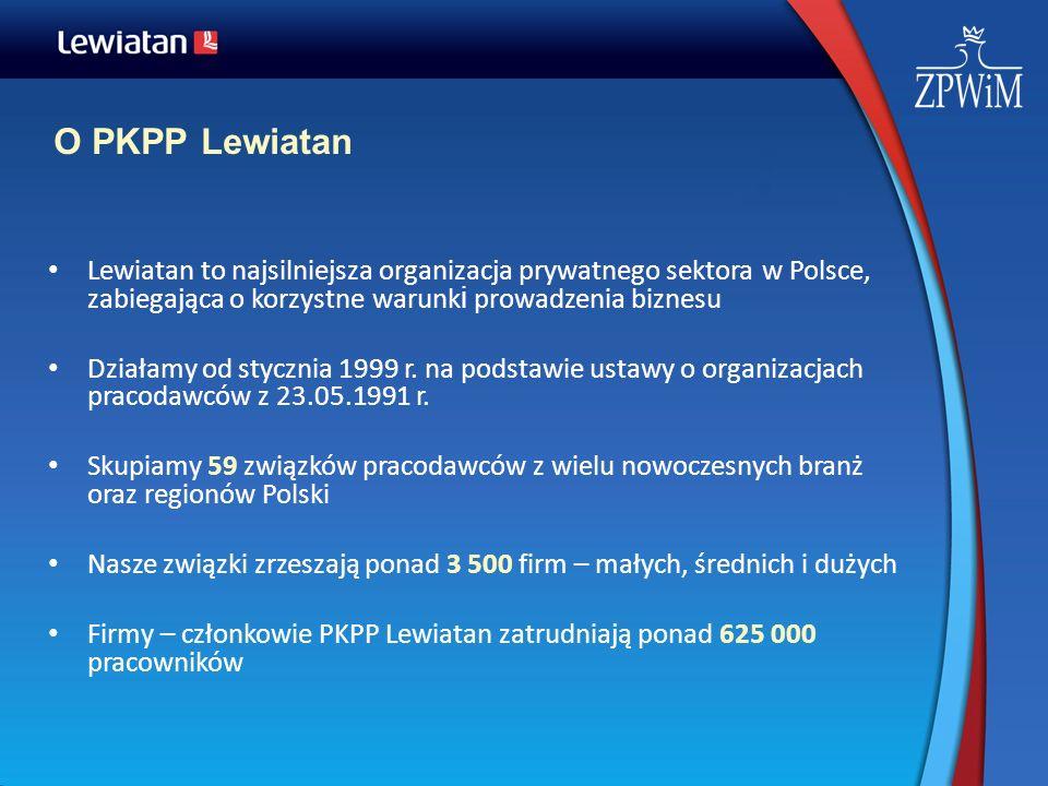 O PKPP Lewiatan Lewiatan to najsilniejsza organizacja prywatnego sektora w Polsce, zabiegająca o korzystne warunki prowadzenia biznesu.