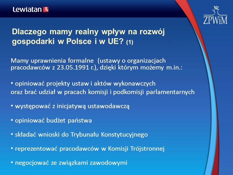 Dlaczego mamy realny wpływ na rozwój gospodarki w Polsce i w UE (1)