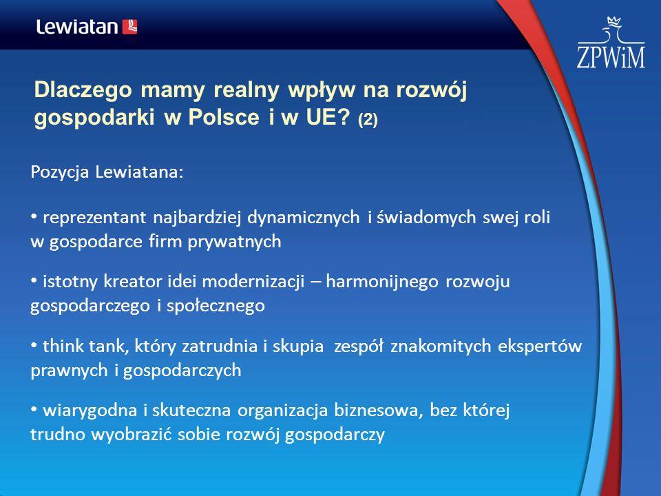 Dlaczego mamy realny wpływ na rozwój gospodarki w Polsce i w UE (2)