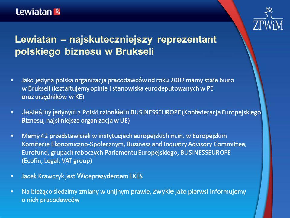 Lewiatan – najskuteczniejszy reprezentant polskiego biznesu w Brukseli