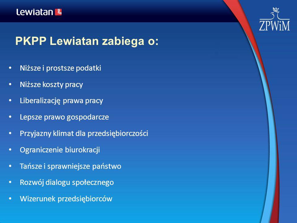 PKPP Lewiatan zabiega o: