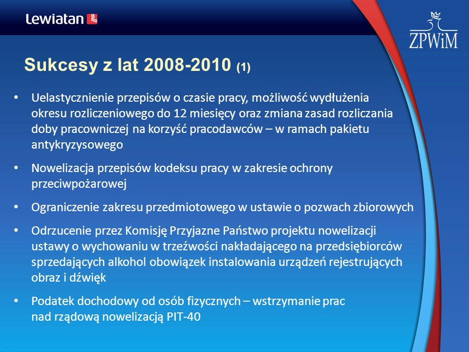 Sukcesy z lat 2008-2010 (1)