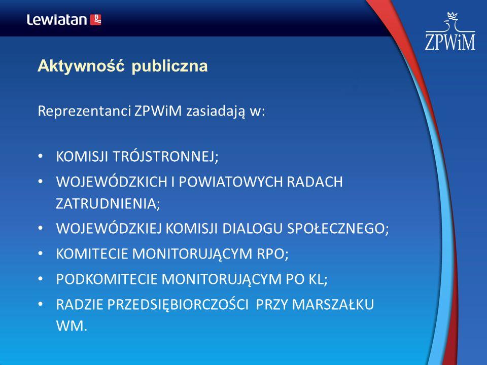 Aktywność publiczna Reprezentanci ZPWiM zasiadają w: