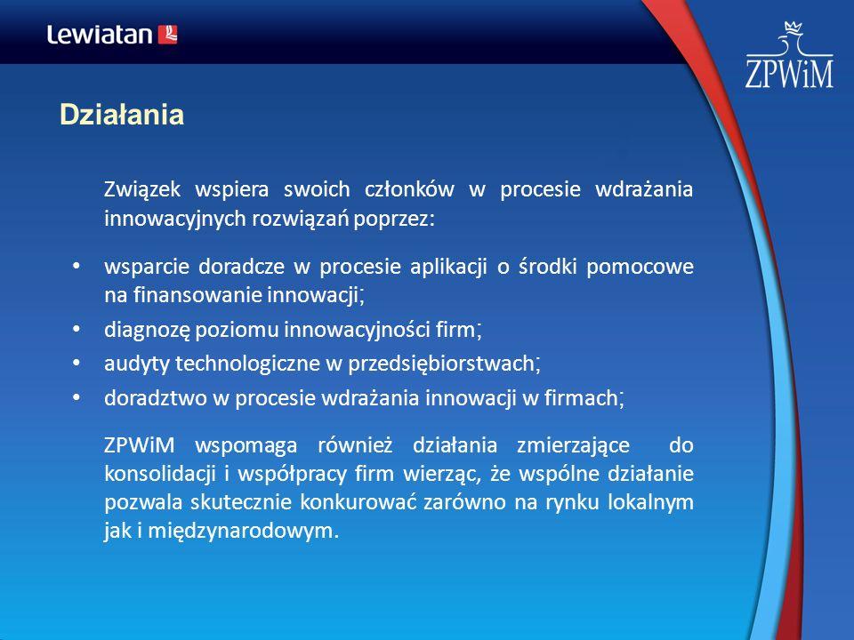 DziałaniaZwiązek wspiera swoich członków w procesie wdrażania innowacyjnych rozwiązań poprzez: