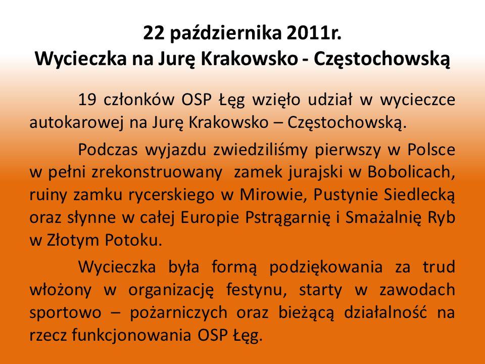 22 października 2011r. Wycieczka na Jurę Krakowsko - Częstochowską