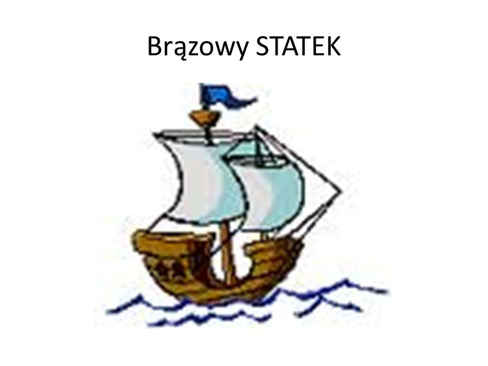 Brązowy STATEK