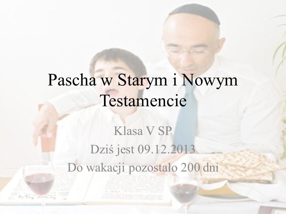 Pascha w Starym i Nowym Testamencie
