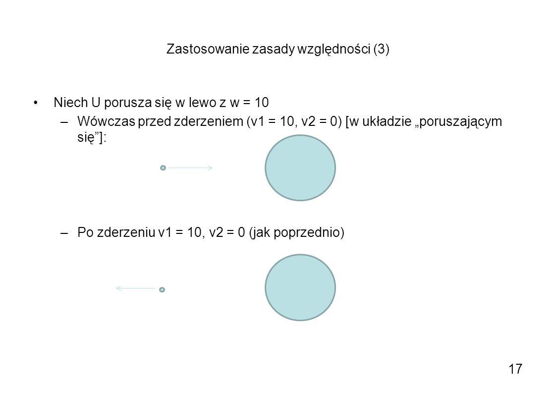 Zastosowanie zasady względności (3)