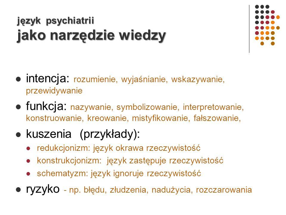język psychiatrii jako narzędzie wiedzy