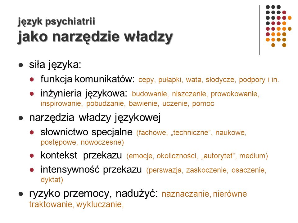 język psychiatrii jako narzędzie władzy