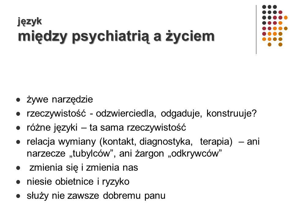 język między psychiatrią a życiem