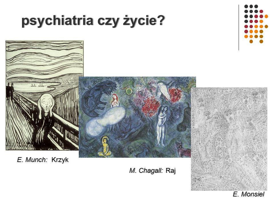 psychiatria czy życie E. Munch: Krzyk M. Chagall: Raj E. Monsiel
