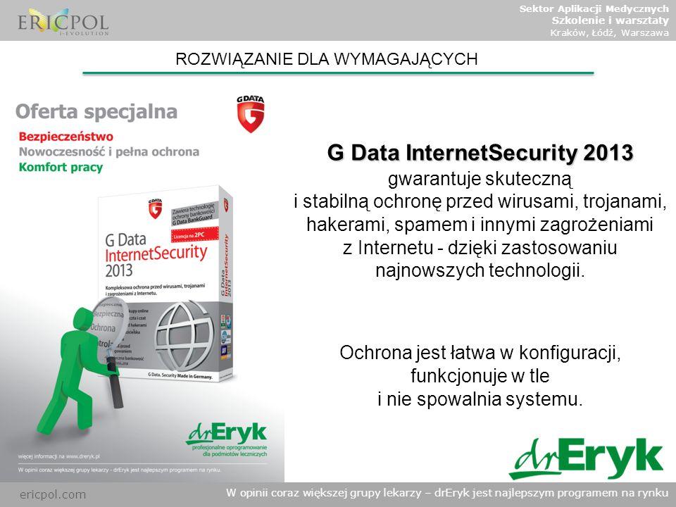 G Data InternetSecurity 2013 gwarantuje skuteczną