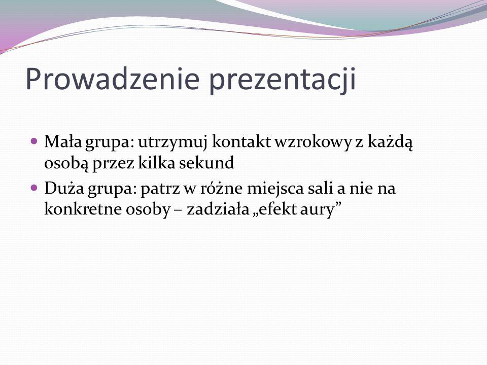 Prowadzenie prezentacji