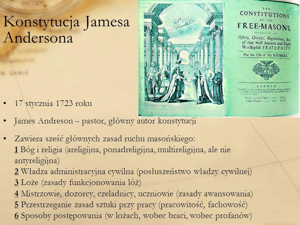 Konstytucja Jamesa Andersona
