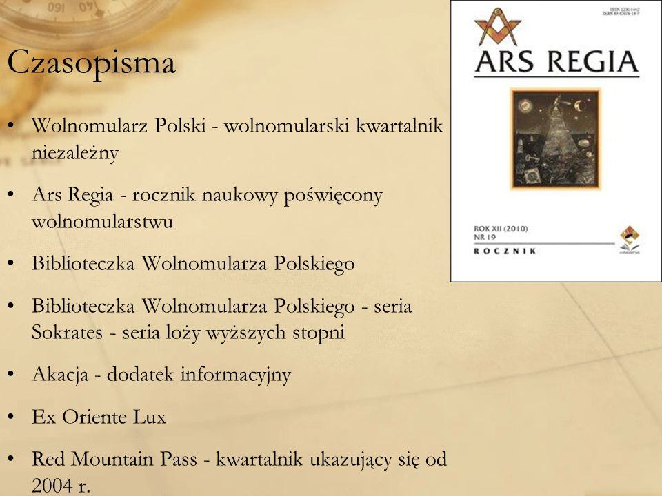 Czasopisma Wolnomularz Polski - wolnomularski kwartalnik niezależny