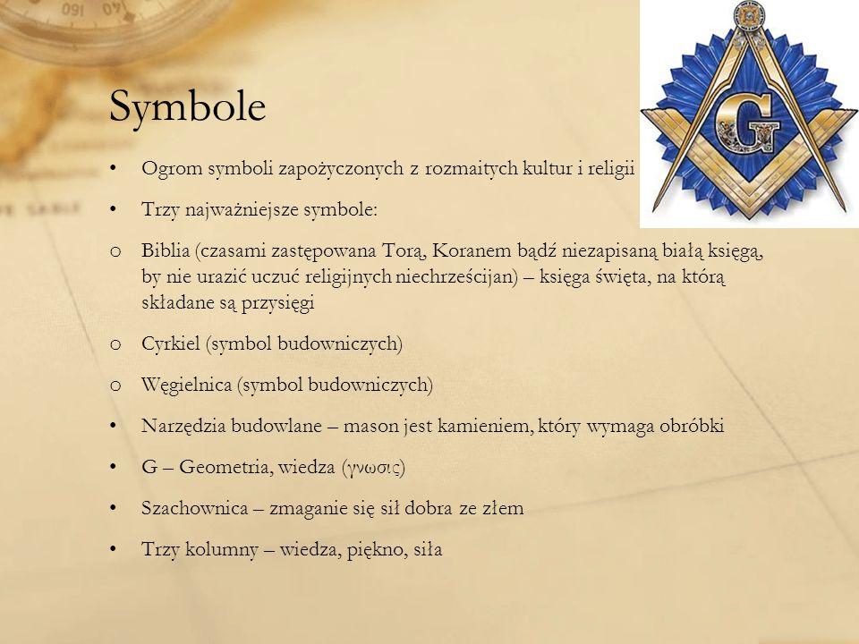 Symbole Ogrom symboli zapożyczonych z rozmaitych kultur i religii