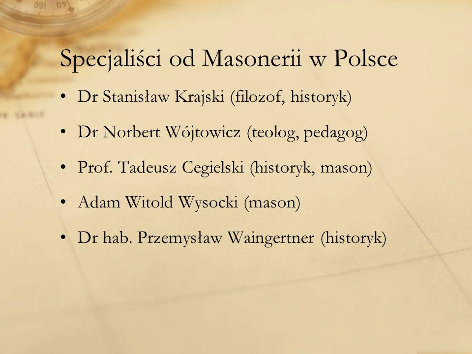 Specjaliści od Masonerii w Polsce