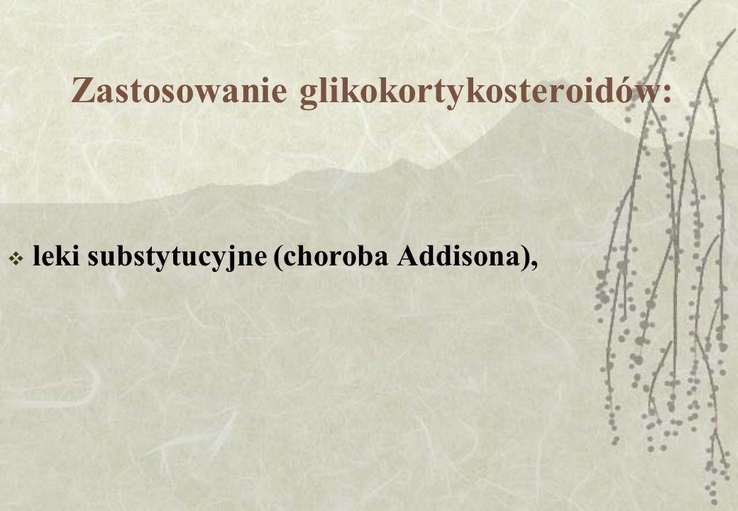 Zastosowanie glikokortykosteroidów:
