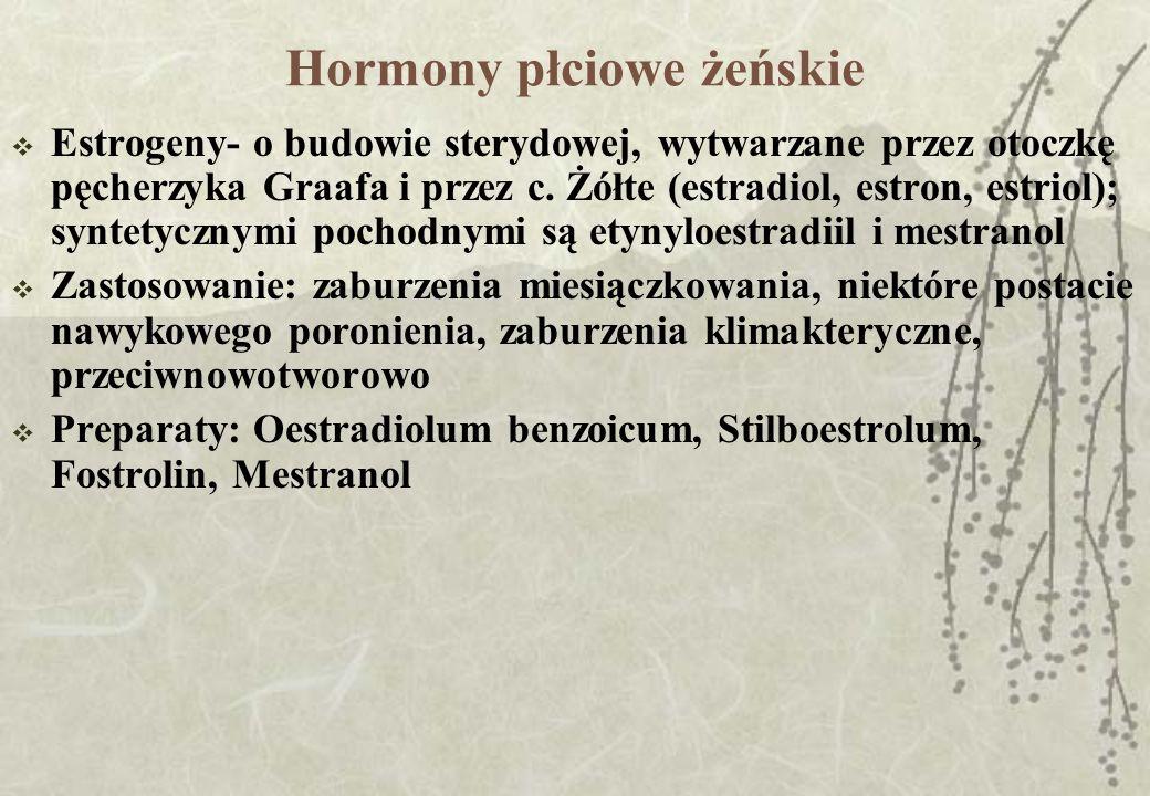 Hormony płciowe żeńskie