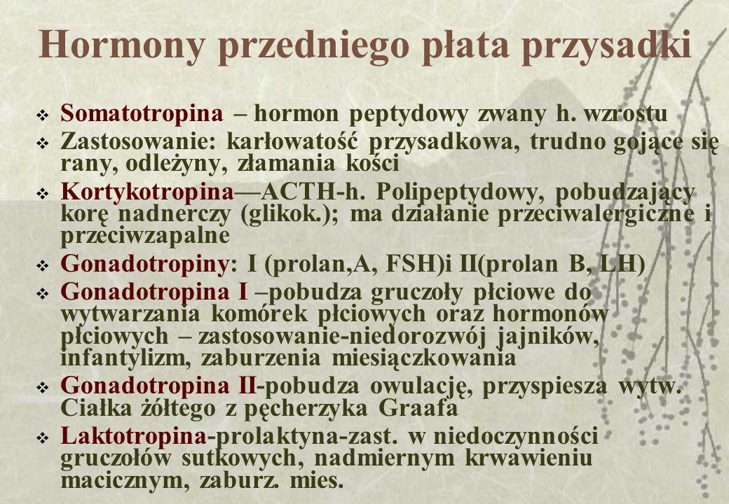 Hormony przedniego płata przysadki