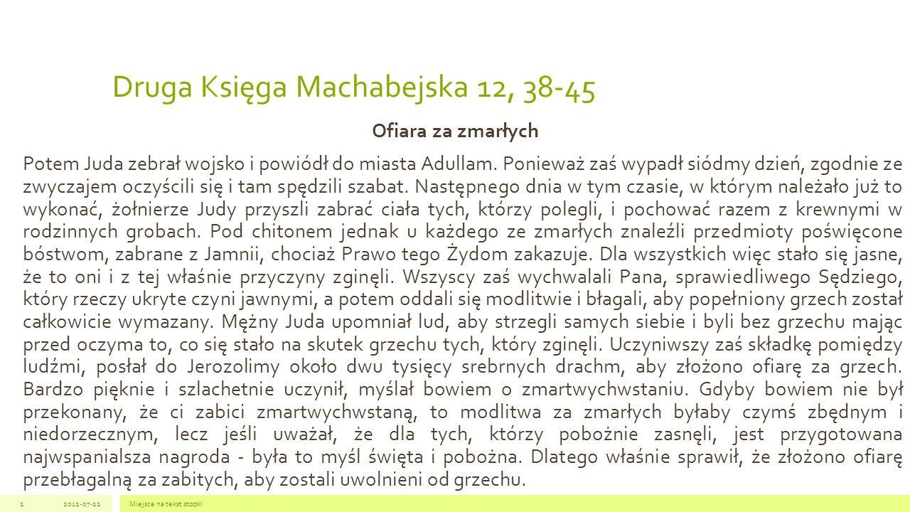 Druga Księga Machabejska 12, 38-45