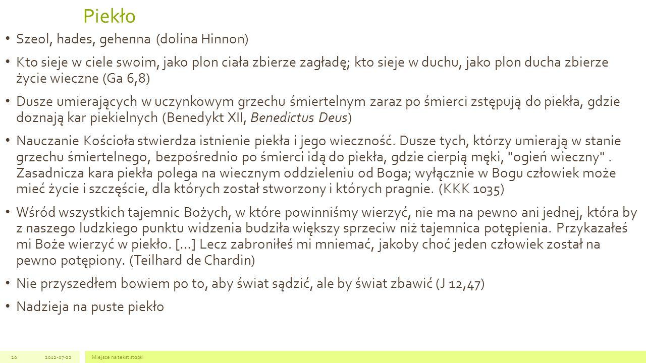 Piekło Szeol, hades, gehenna (dolina Hinnon)