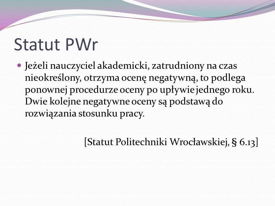 Statut PWr