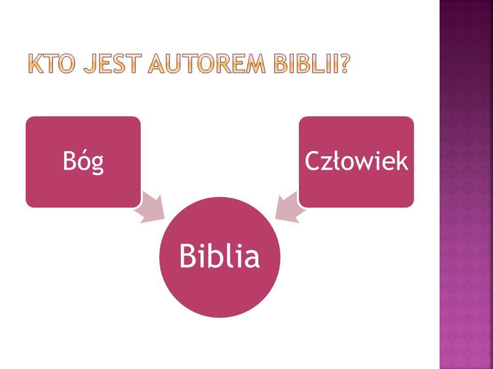 Kto jest autorem Biblii