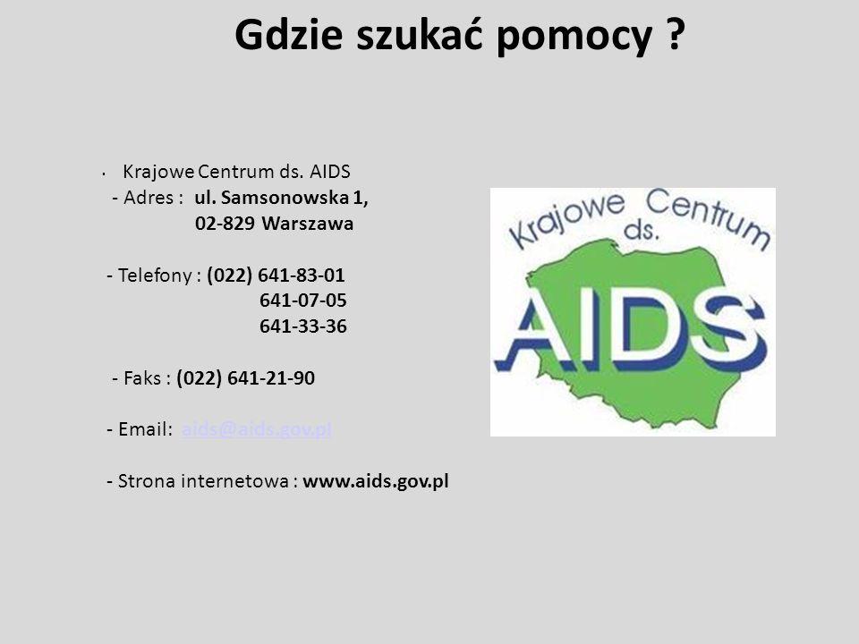 Gdzie szukać pomocy Krajowe Centrum ds. AIDS