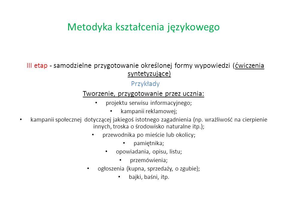 Metodyka kształcenia językowego