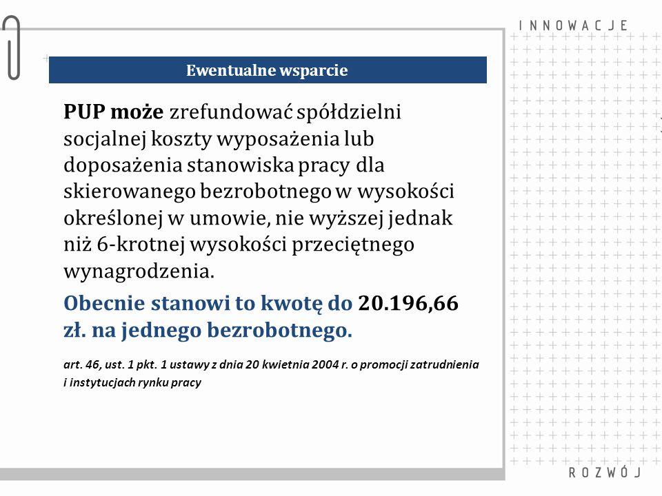 Obecnie stanowi to kwotę do 20.196,66 zł. na jednego bezrobotnego.