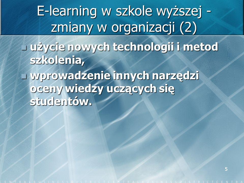 E-learning w szkole wyższej - zmiany w organizacji (2)