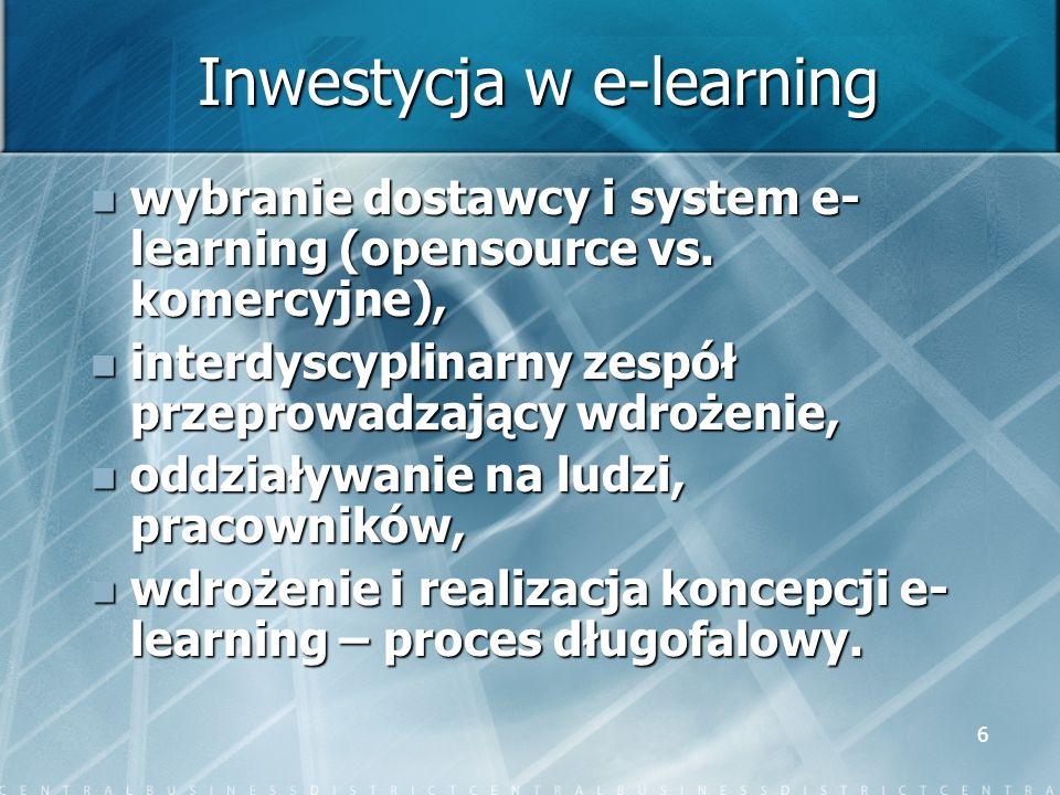 Inwestycja w e-learning