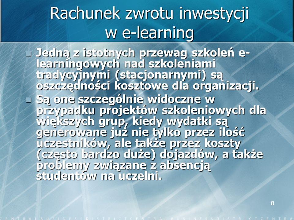 Rachunek zwrotu inwestycji w e-learning