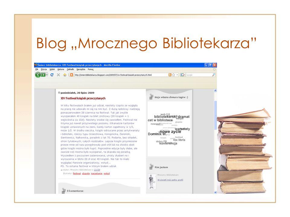 """Blog """"Mrocznego Bibliotekarza"""