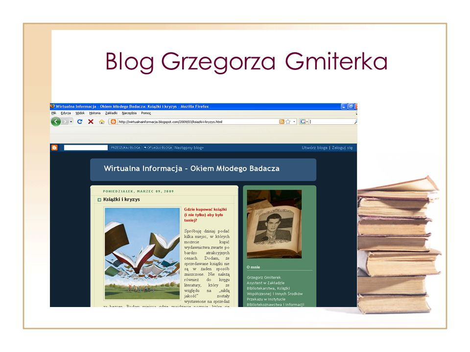 Blog Grzegorza Gmiterka