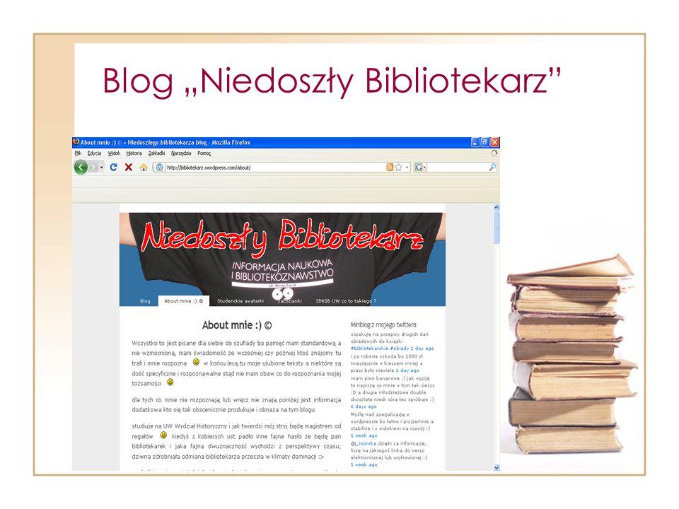 """Blog """"Niedoszły Bibliotekarz"""