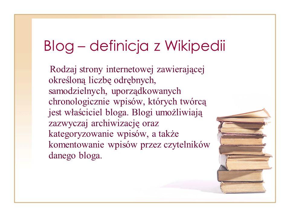 Blog – definicja z Wikipedii