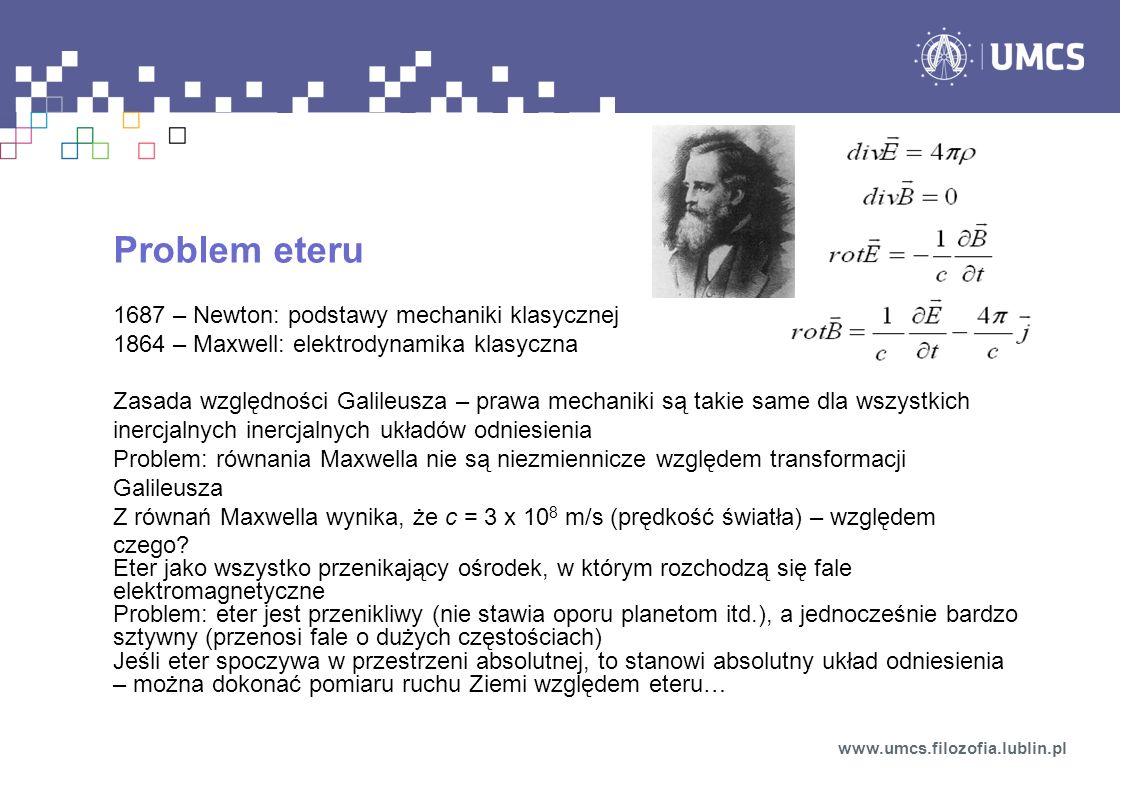 Problem eteru 1687 – Newton: podstawy mechaniki klasycznej