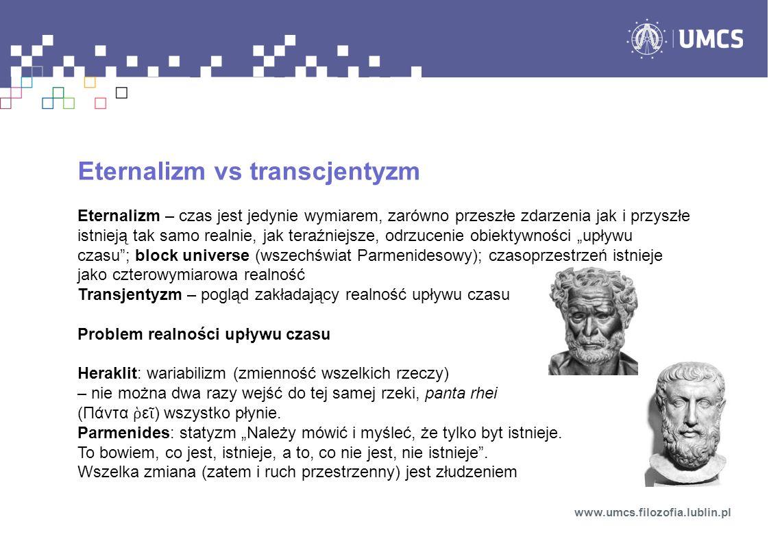 Eternalizm vs transcjentyzm