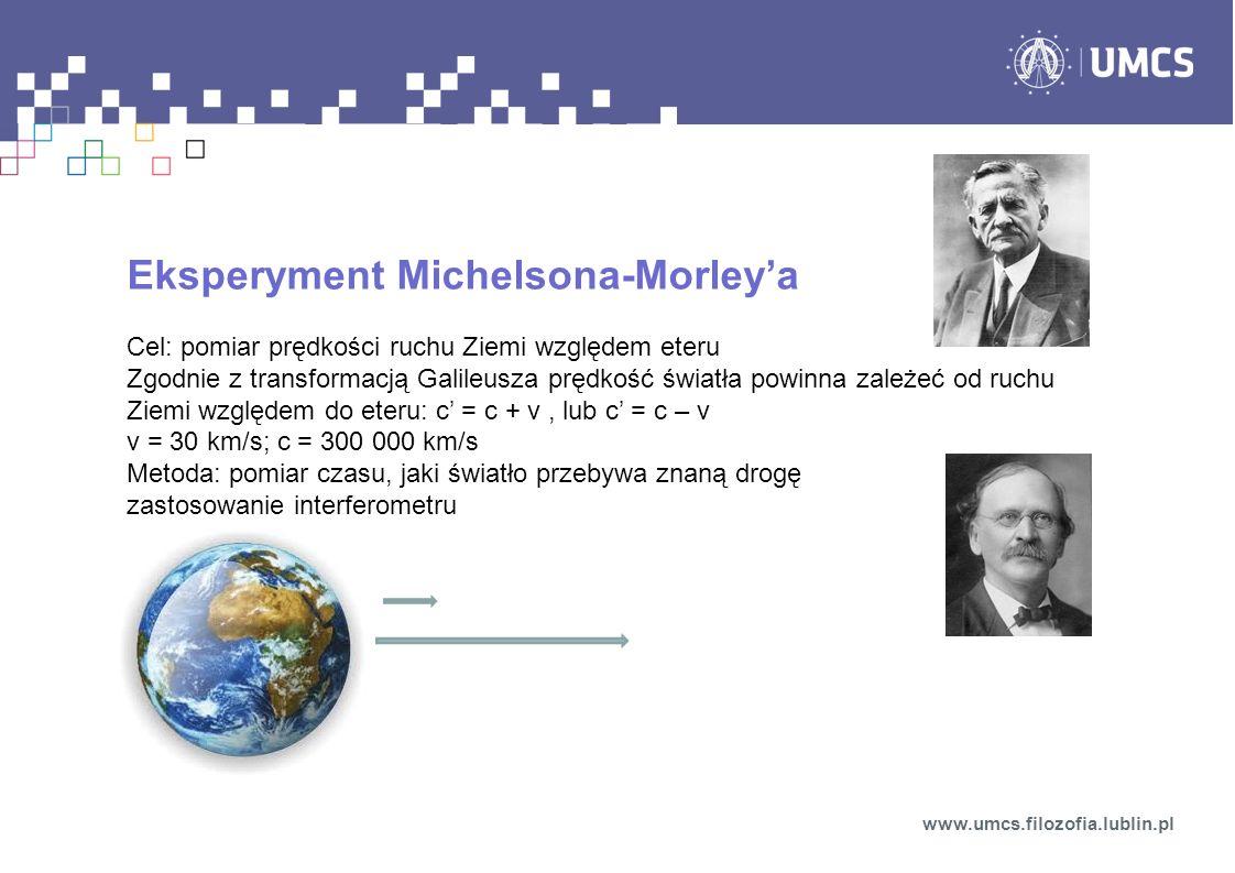 Eksperyment Michelsona-Morley'a